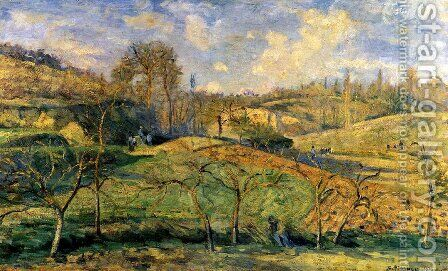 March Sun, Pontoise by Camille Pissarro - Reproduction Oil Painting