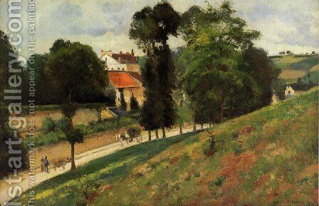 The Saint-Antoine Road at l'Hermitage, Pontoise by Camille Pissarro - Reproduction Oil Painting