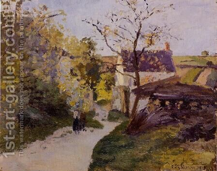 The Large Walnut Tree at l'Hermitage by Camille Pissarro - Reproduction Oil Painting