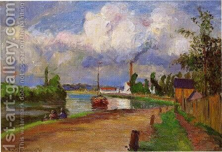 Landscape of the Oise by Camille Pissarro - Reproduction Oil Painting