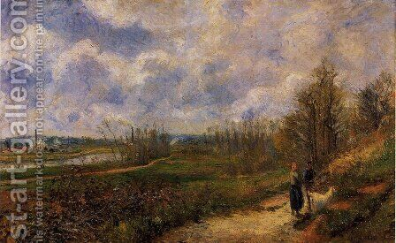 Path to Le Chou, Pontoise by Camille Pissarro - Reproduction Oil Painting