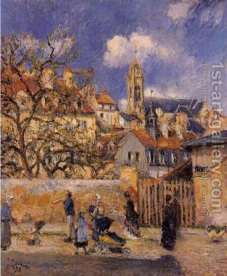 Le Parc aux Charrettes, Pontoise by Camille Pissarro - Reproduction Oil Painting