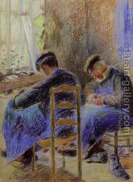 Shoemakers by Camille Pissarro - Reproduction Oil Painting