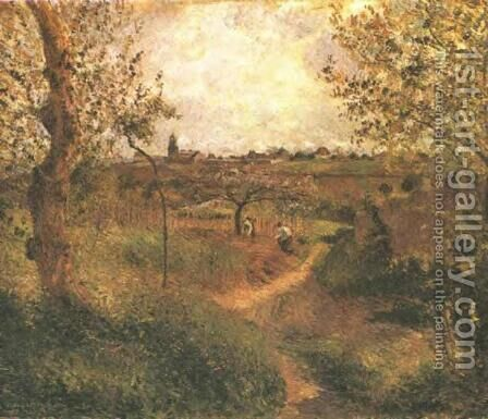 A Path Across the Fields by Camille Pissarro - Reproduction Oil Painting
