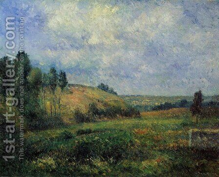 Landscape, near Pontoise by Camille Pissarro - Reproduction Oil Painting