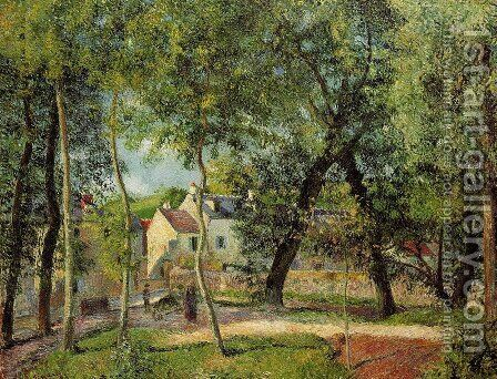 Paysage a Osny pres de l'abreuvoir by Camille Pissarro - Reproduction Oil Painting