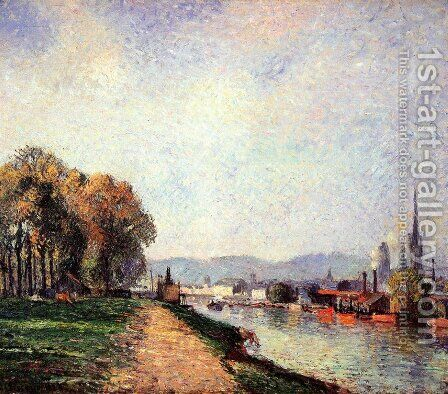 View of Rouen by Camille Pissarro - Reproduction Oil Painting
