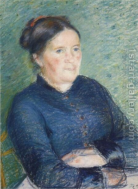Portrait of Madame Pissarro by Camille Pissarro - Reproduction Oil Painting