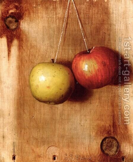Hanging Apples by De Scott Evans - Reproduction Oil Painting