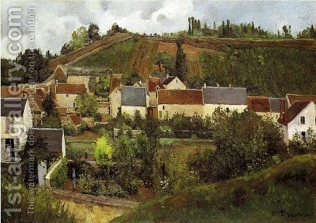 View of l'Hermitage, Jallais Hills, Pontoise by Camille Pissarro - Reproduction Oil Painting