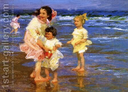 Cold Feet by Edward Henry Potthast - Reproduction Oil Painting