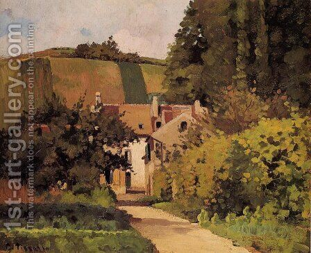 Village Church by Camille Pissarro - Reproduction Oil Painting