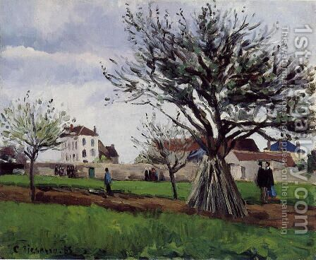 Apple Trees at Pontoise by Camille Pissarro - Reproduction Oil Painting