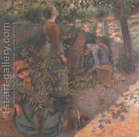 Apple Picking by Camille Pissarro - Reproduction Oil Painting