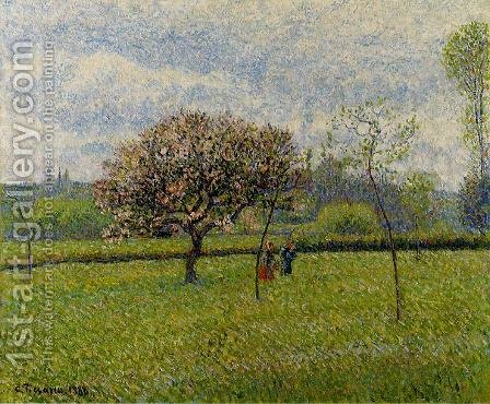 Flowering Apple Trees at Eragny by Camille Pissarro - Reproduction Oil Painting