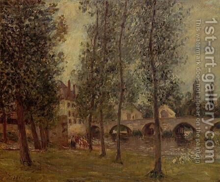 The Moret Bridge by Camille Pissarro - Reproduction Oil Painting