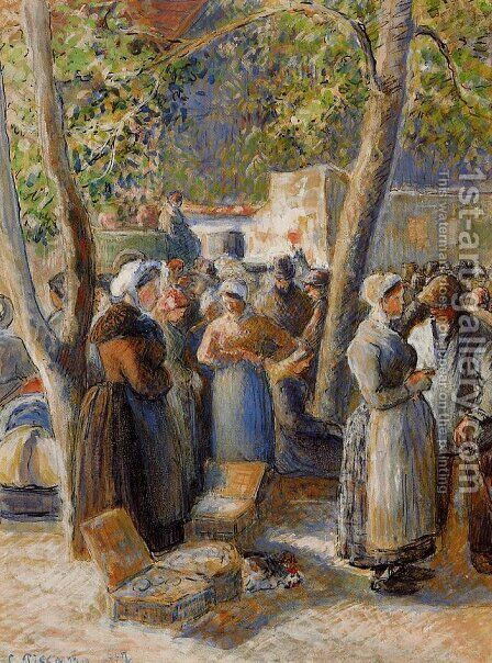 The Market in Gisors by Camille Pissarro - Reproduction Oil Painting