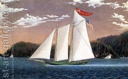 Schooner Robert Knapp by James Bard - Reproduction Oil Painting