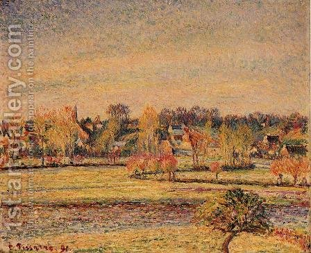 Frost, View fom Bazincourt by Camille Pissarro - Reproduction Oil Painting