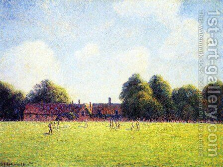 Hampton Court Green, London by Camille Pissarro - Reproduction Oil Painting