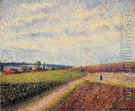 View of Eragny I by Camille Pissarro - Reproduction Oil Painting