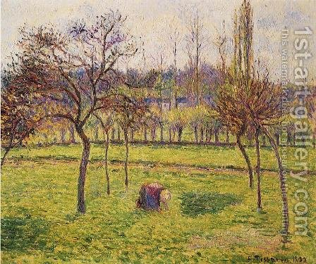 Apple Trees in a Field by Camille Pissarro - Reproduction Oil Painting