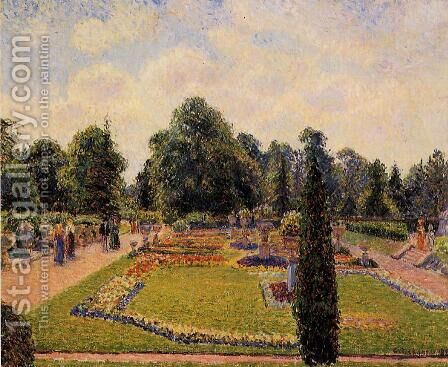 Kew Gardens: Path  between the Pond and the Palm House by Camille Pissarro - Reproduction Oil Painting