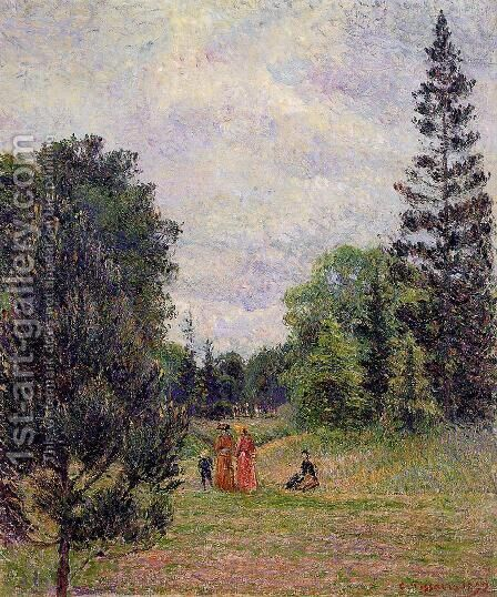 Kew Gardens, Crossroads near the Pond by Camille Pissarro - Reproduction Oil Painting