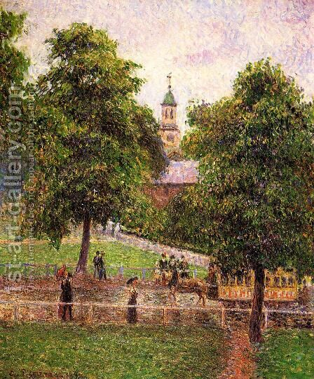 Church at Kew by Camille Pissarro - Reproduction Oil Painting