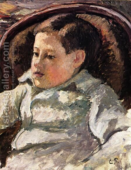 Portrait of Paulemile I by Camille Pissarro - Reproduction Oil Painting