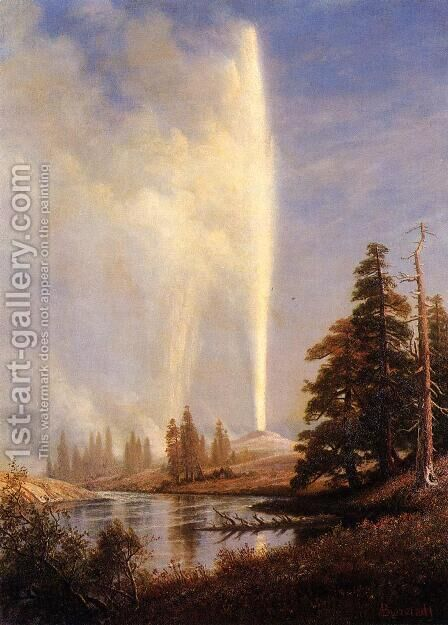 Old Faithful I by Albert Bierstadt - Reproduction Oil Painting