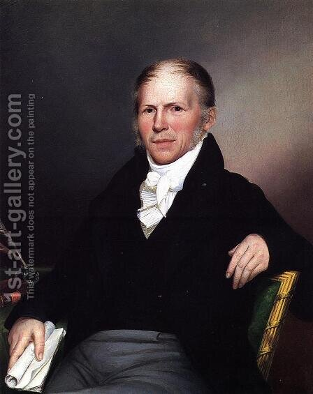 Portrait of William Young by James Peale - Reproduction Oil Painting