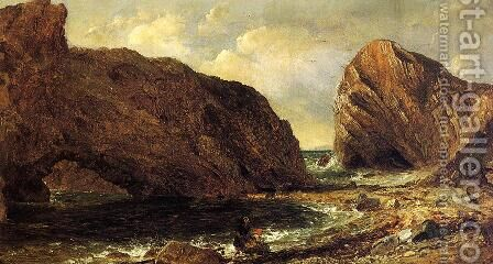 By the Sea, Lulworth by Jasper Francis Cropsey - Reproduction Oil Painting