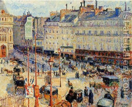 Place du Havre, Paris by Camille Pissarro - Reproduction Oil Painting