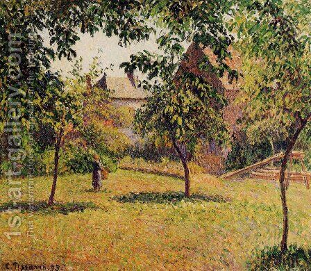 The Barn, Morning, Eragny by Camille Pissarro - Reproduction Oil Painting
