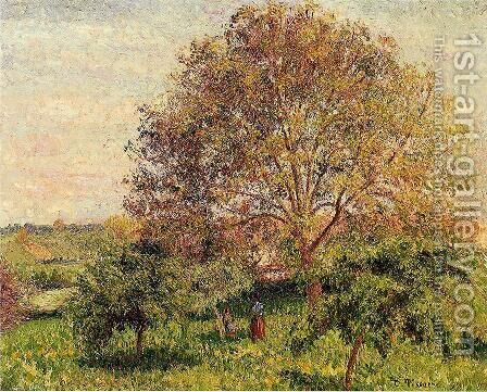 Walnut Tree in Spring by Camille Pissarro - Reproduction Oil Painting
