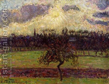 The Fields of Eragny, the Apple Tree by Camille Pissarro - Reproduction Oil Painting