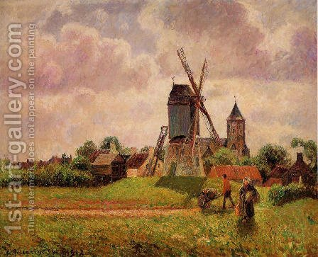 The Knocke Windmill, Belgium by Camille Pissarro - Reproduction Oil Painting