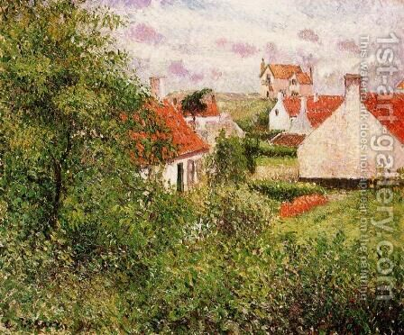 Houses at Knocke, Belgium by Camille Pissarro - Reproduction Oil Painting