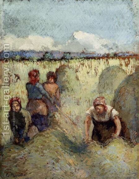 Haymaking by Camille Pissarro - Reproduction Oil Painting
