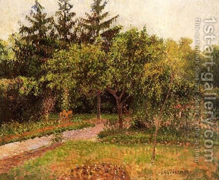 The Garden at Eragny by Camille Pissarro - Reproduction Oil Painting