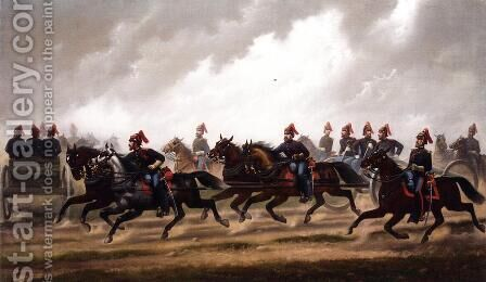 General Winfield Scott;s Artillery Troops by James Walker - Reproduction Oil Painting