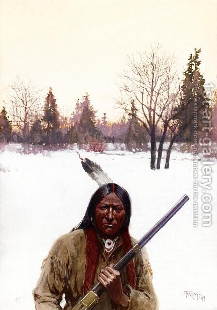 Hunter by Henry Farny - Reproduction Oil Painting