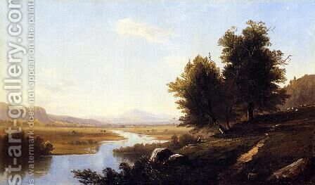 Landscape, The Saco from Conway by Alfred Thompson Bricher - Reproduction Oil Painting