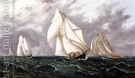 The Yacht Race by James E. Buttersworth - Reproduction Oil Painting