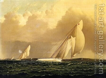Yacht Race in New York Harbor by James E. Buttersworth - Reproduction Oil Painting