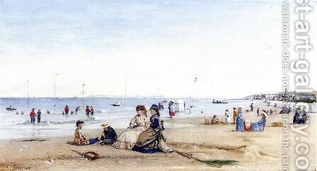 Trouville Beach by Conrad Wise Chapman - Reproduction Oil Painting