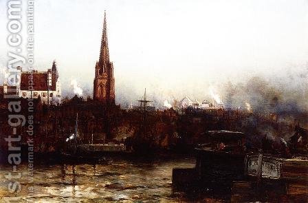 Trinity from the River by Arthur Quartley - Reproduction Oil Painting