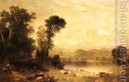 Pastoral Scene by Asher Brown Durand - Reproduction Oil Painting