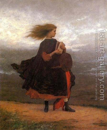 The Girl I Left Behind Me by Eastman Johnson - Reproduction Oil Painting